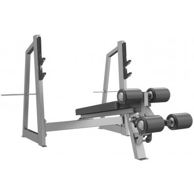 E-3041 Скамья-стойка для жима под углом вниз (Olympic Decline Bench)