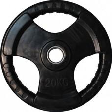 Диск обрезиненный, черный HANDLE D-51, 20 кг