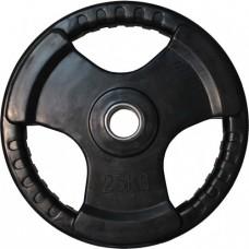 Диск обрезиненный, черный HANDLE D-51, 25 кг