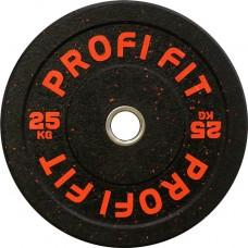 Диск для штанги HI-TEMP с цветными вкраплениями, PROFI-FIT D-51, 25 кг