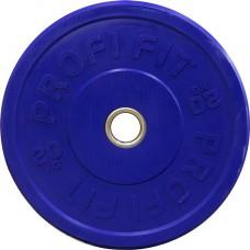 Диск для штанги каучуковый, синий, PROFI-FIT D-51, 20 кг