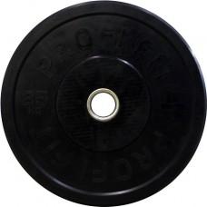 Диск для штанги каучуковый, черный, PROFI-FIT D-51, 25 кг