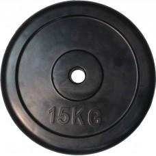 """Диск обрезиненный черный """"Classic"""" D-26, 15 кг"""