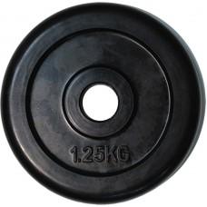 """Диск обрезиненный черный """"Classic"""" D-26, 1,25 кг"""