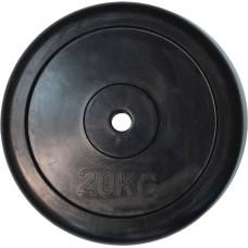 """Диск обрезиненный черный """"Classic"""" D-26, 20 кг"""