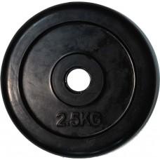 """Диск обрезиненный черный """"Classic"""" D-26, 2,5 кг"""