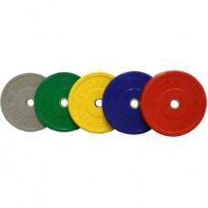 Набор дисков для штанги каучуковых цветных PROFI-FIT D-51, 5-25 кг