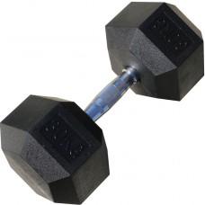 Гантель гексагональная обрезиненная 30 кг