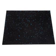 Коврик резиновый, черный, с цветными вкраплениями, PROFI-FIT, 500*500*15 мм