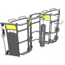 360D Функциональная станция DHZ для кроссфит тренировок, 490х173х236 см