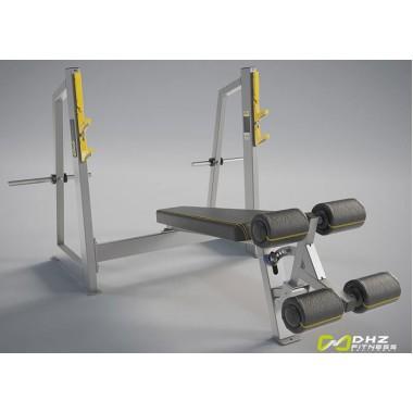 A-3041 Скамья-стойка для жима под углом вниз (Olympic Decline Bench)