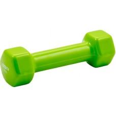 Гантель в виниловой оболочке PROFI-FIT 1 кг, форма шестигранник, зеленый