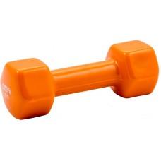 Гантель в виниловой оболочке PROFI-FIT 2 кг, форма шестигранник, оранжевый